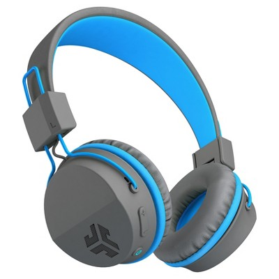 JLab JBuddies Wireless Bluetooth Headphones - Gray/Blue