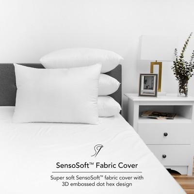 SensorPEDIC Embossed SensoSoft Jumbo Fiber Filled Bed Pillow 4 Pack