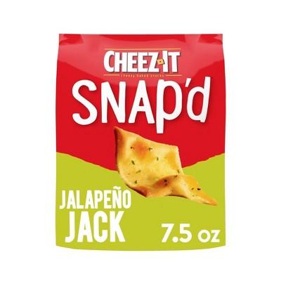 Cheez-It Snap'd Jalapeno Jack Cheesy Baked Snacks - 7.5oz