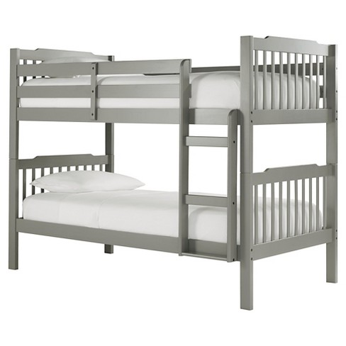 Nacona Mission Bunk Bed - Twin, Twin - Black - Inspire Q - image 1 of 7