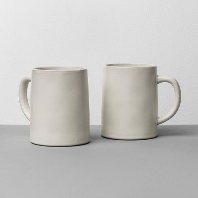 2pk Stoneware Mug Set Matte Cream - Hearth & Hand™ with Magnolia