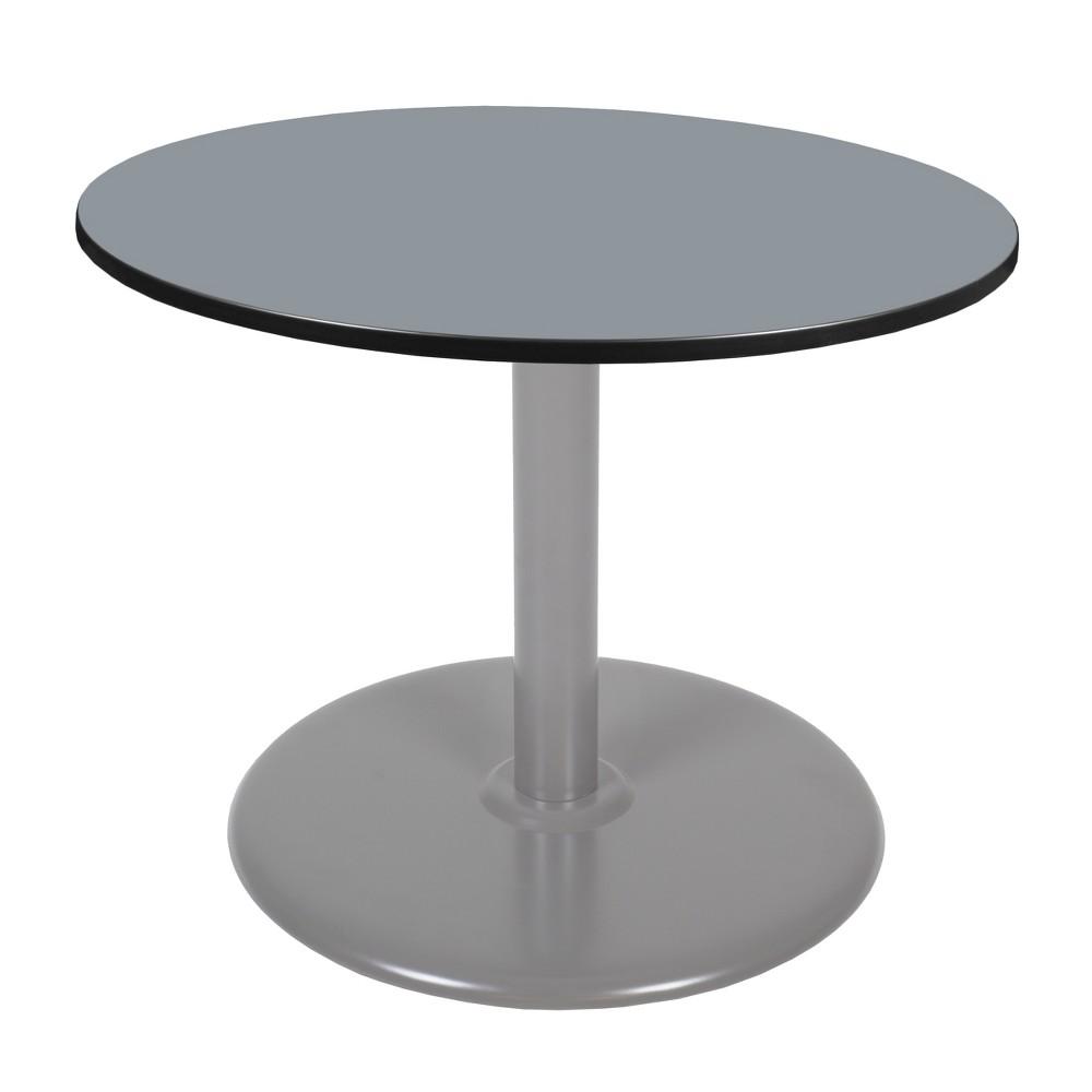 48 Via Round Platter Base Table Gray - Regency