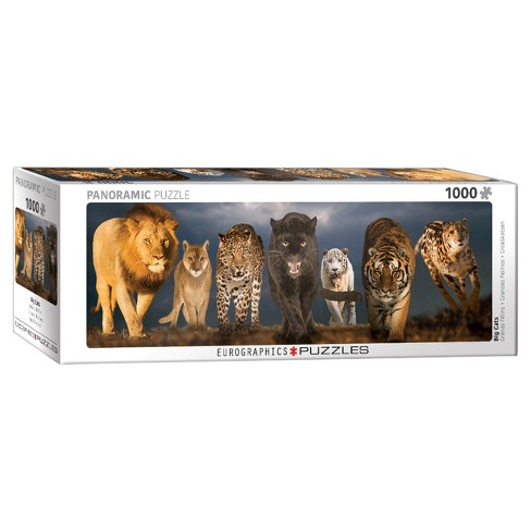 Eurographics Panoramic: Big Cats Puzzle 1000pc - image 1 of 1