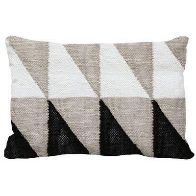 Color Blocked Geometric Lumbar Throw Pillow Black/Gray - Project 62™