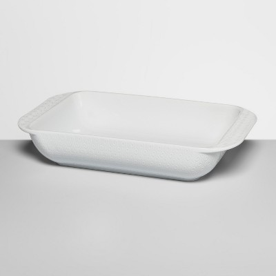3qt Ceramic Textured Bakeware White - Opalhouse™