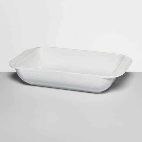 3qt Ceramic Textured Bakeware White - Opalhouse™ - image 1 of 3