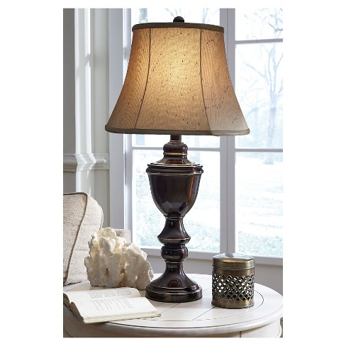 Glyn Table Lamp Set Of 2 Bronze Finish Signature Design By
