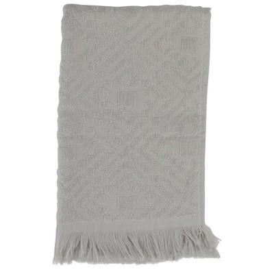"Northlight Set of 2 Gray Fringed Hand Towel Kitchen Decor - 22"""
