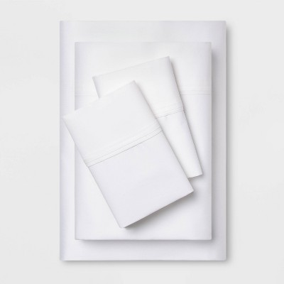 Queen 400 Thread Count Performance Sheet Set White - Threshold™