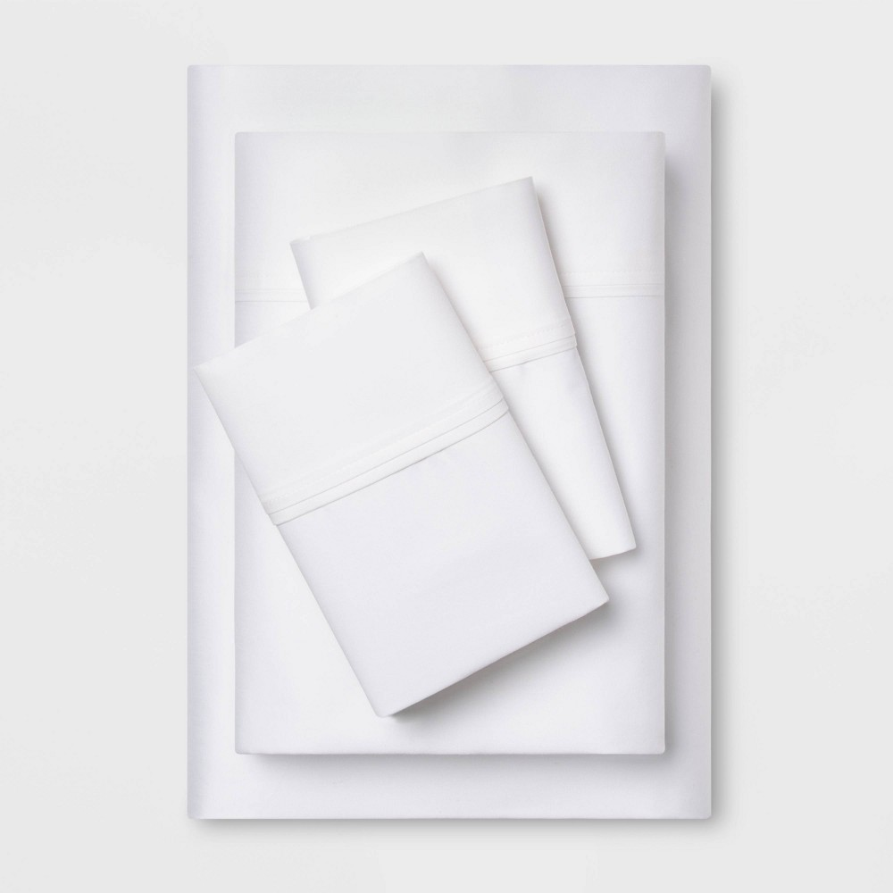 Twin XL 400 Thread Count Solid Performance Sheet Set White - Threshold was $31.99 now $22.39 (30.0% off)