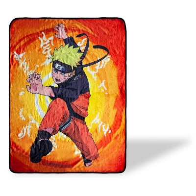 Just Funky Naruto With Kanji Symbols Large Anime Fleece Throw Blanket | 60 x 45 Inches