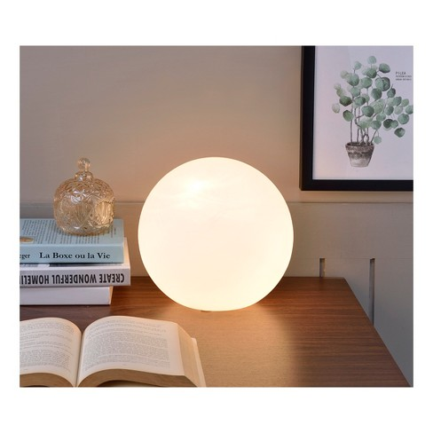 White Globe Small Glass International Ore Table Lamp vwn0mN8