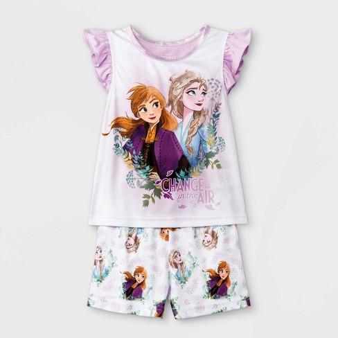 Toddler Girls' Frozen Pajama Set - Purple - image 1 of 1