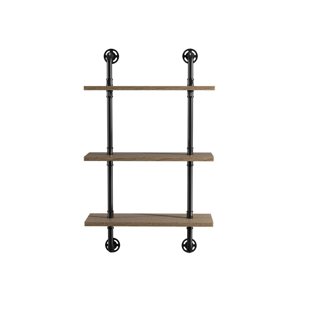 Dylan Floating Shelves 3 Layer Oak- Sun & Pine, Brown