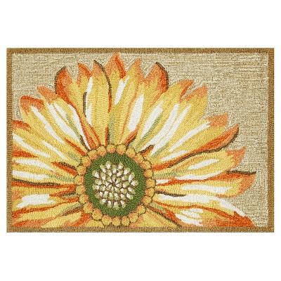 Frontporch Indoor/Outdoor Sunflower Yellow Rug 24 X36  Yellow - Liora Manne
