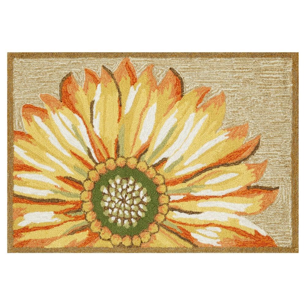 Frontporch Indoor/Outdoor Sunflower Yellow Rug 24
