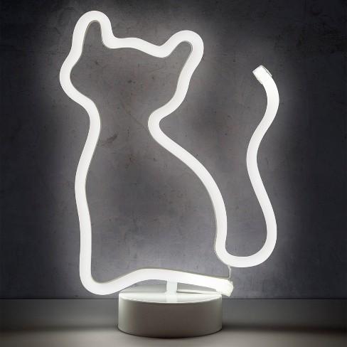 Cat 12 Led Novelty Table Lamp White West Arrow Target