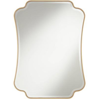 "Noble Park Indara Antique Gold 27"" x 38"" Scallop Wall Mirror"