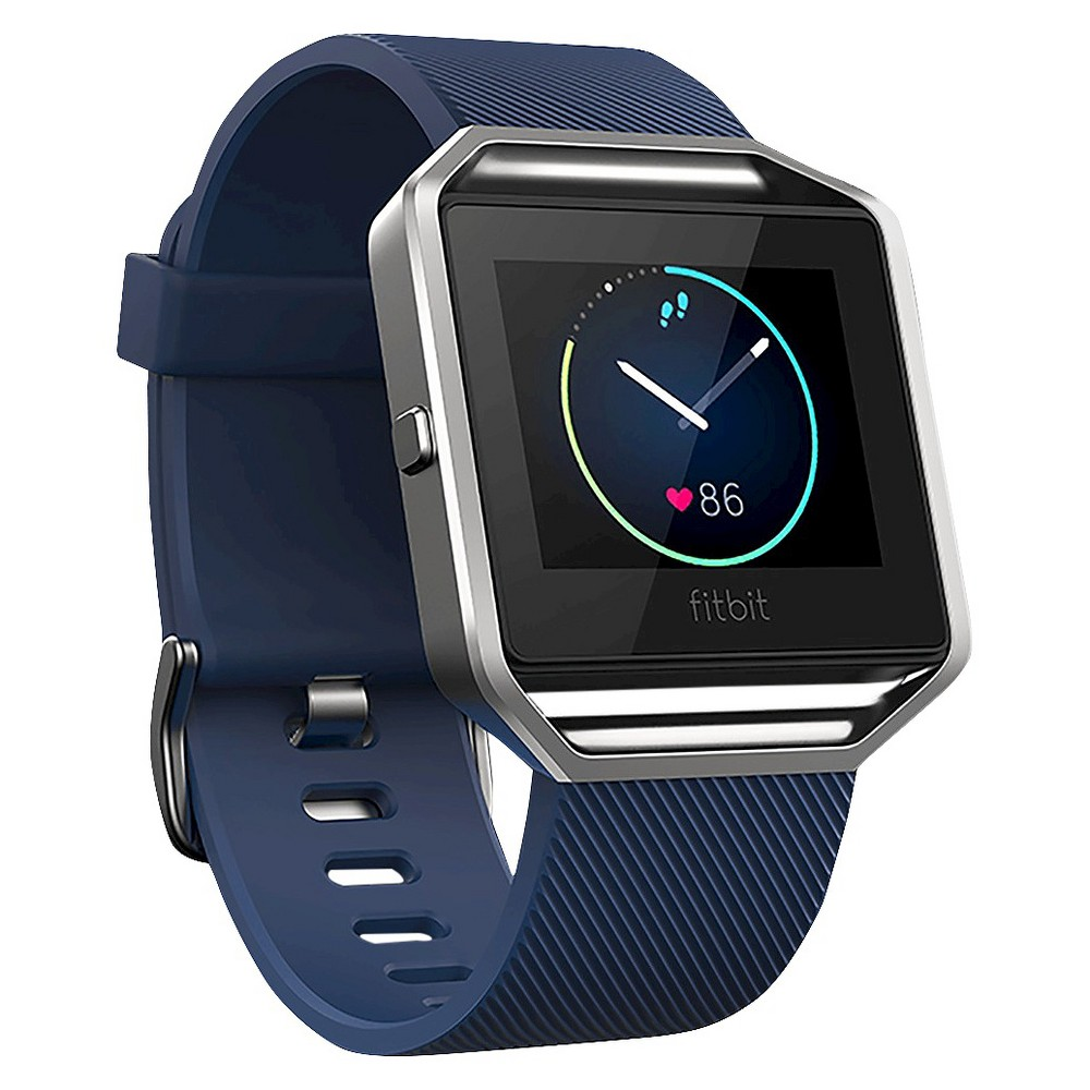 Fitbit Blaze Smart Fitness Watch, Blue Get fit in style with Fitbit Blaze—a smart fitness watch designed to help you maximize every workout and every day. Use fitness features like PurePulse continuous heart rate, multi-sport tracking, Connected Gps and FitStar workout on your wrist. Automatically track your activity, exercise and sleep. Stay connected with call, text and calendar notifications. Customize Fitbit Blaze with a variety of watch faces or accessorize with bands and frames. It's everything you need for fitness and style—all in one sleek time piece. Color: Blue.
