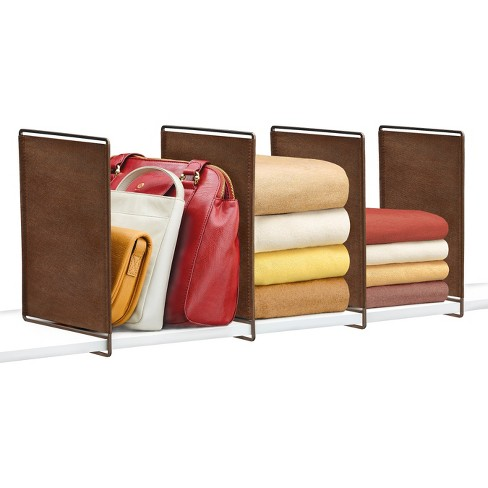 Lynk Vela Shelf Dividers (Set of 4) - Closet Shelf Organizer - Bronze - image 1 of 3