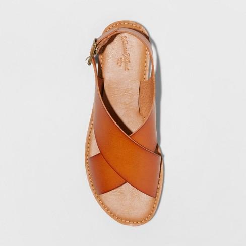 b1c0da22efa Women s Sarina Crossband Slide Sandals - Universal Thread™ Cognac 8   Target