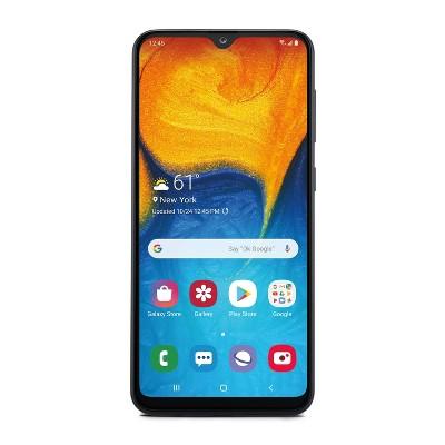 Consumer Cellular Postpaid Samsung A20 (32GB)- Black