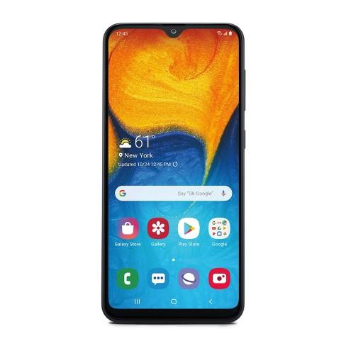 Consumer Cellular Postpaid Samsung A20 (32GB) - Black : Target