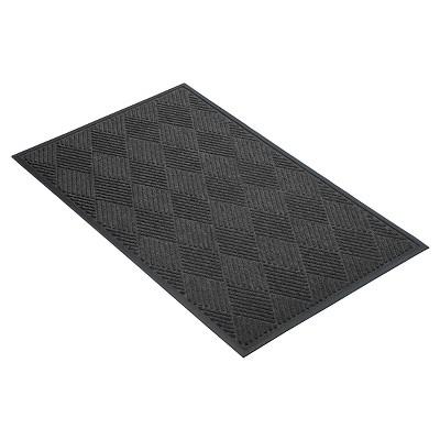 Charcoal Solid Doormat - (3'X5') - HomeTrax