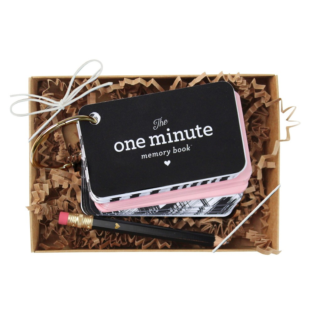 'The One Minute Memory Book' For Baby Pink