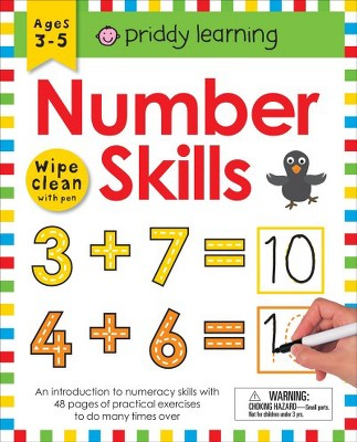 Number Skills : Wipe Clean With Pen & Flash Cards - Workbook by Roger Priddy (Paperback)