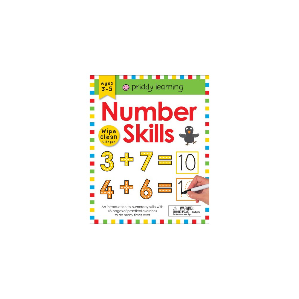 Number Skills : Wipe Clean With Pen & Flash Cards - Pap/Acc (Priddy Learning) (Paperback)