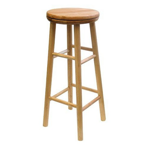 Winsome Beechwood 30 Swivel Bar Stool Set Of 2