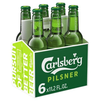Carlsberg Danish Pilsner Beer - 6pk/11.2 fl oz Bottles