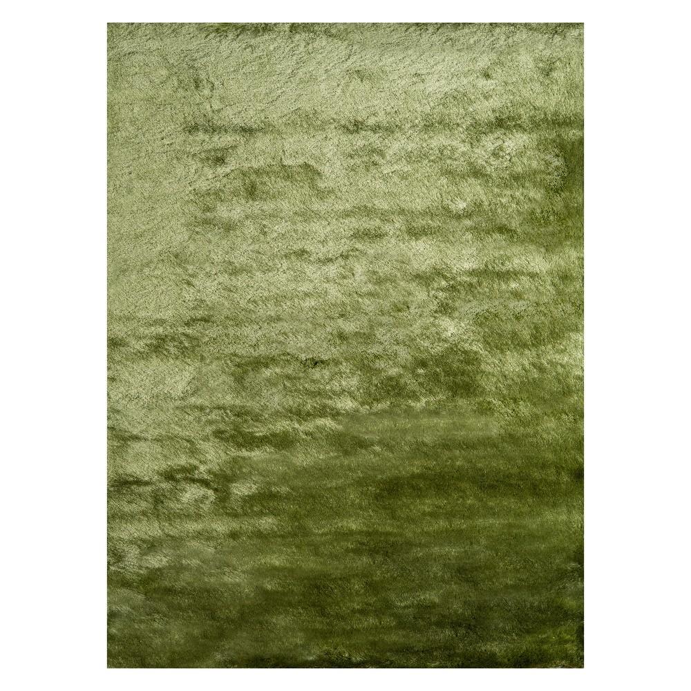 5'X7' Solid Tufted Area Rug Apple Green - Momeni