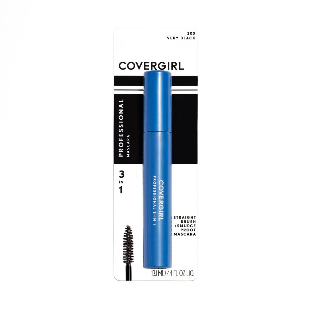 Covergirl Professional 3-in-1 Straight Brush Mascara 200 Very Black .3 fl oz, Very Black 200