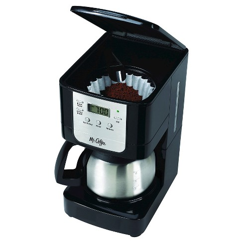 Mr Coffee Advanced Brew 5 Cup Programmable Maker With Stainless Steel Carafe Black Chrome Jwx9 Target