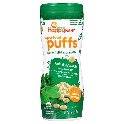 Baby & Toddler Snacks: Happy Baby Puffs
