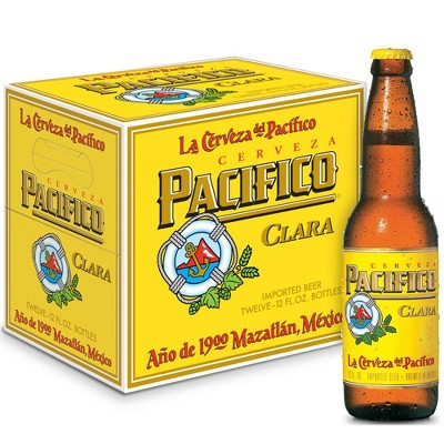 Pacifico Clara Mexican Lager Beer - 12pk/12 fl oz Bottles