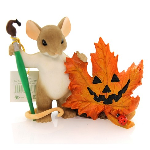 Charming Tails Leave A Smile Wherever Your Go Halloween Pumpkin Leaf - image 1 of 4