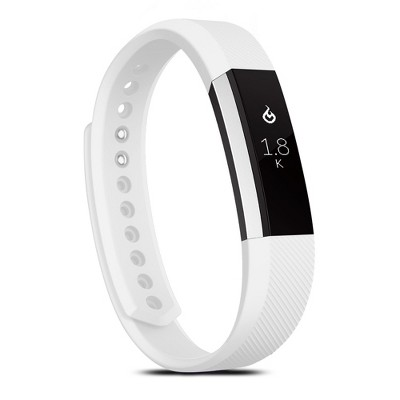 Zodaca For Fitbit Alta - Large L Size TPU Rubber Wristband Replacement Sports Watch Wrist Band Strap w/ Clasp - White
