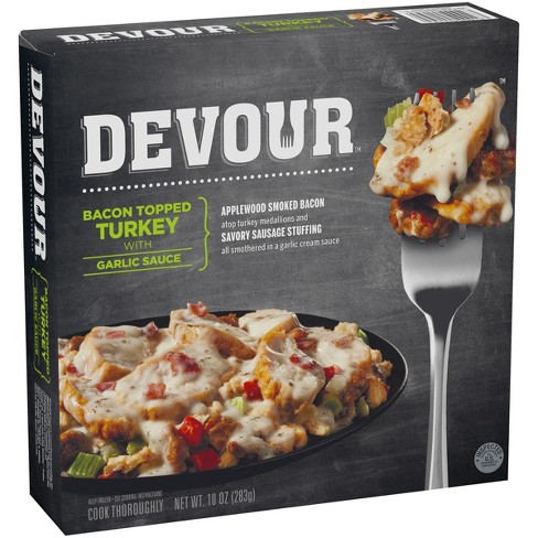 Devour Bacon Topped Frozen Turkey with Garlic Sauce - 10oz - image 1 of 3