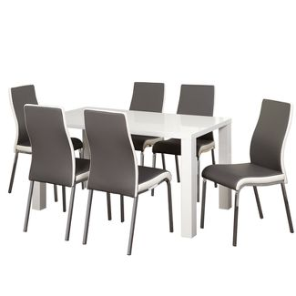 7pc Cally Dining Set - Gray - Buylateral