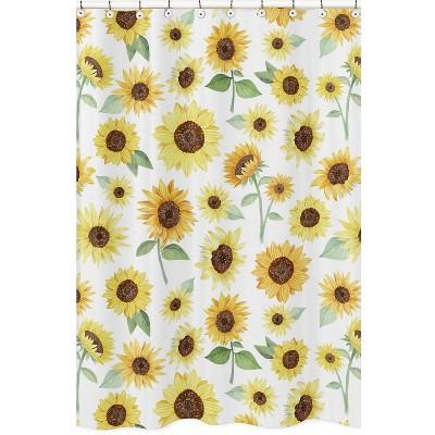 Sunflower Shower Curtain - Sweet Jojo Designs