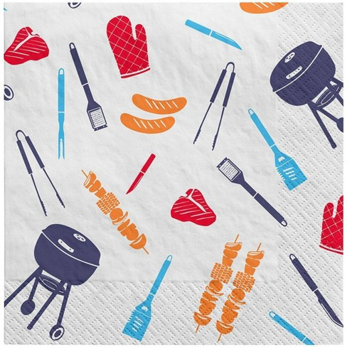 30ct Lunch Napkin Grill Toss White - Sun Squad™ - image 1 of 2