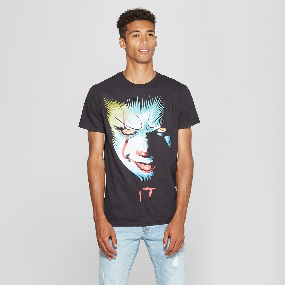 Men's IT Horror Movie Short Sleeve T-Shirt - Black S