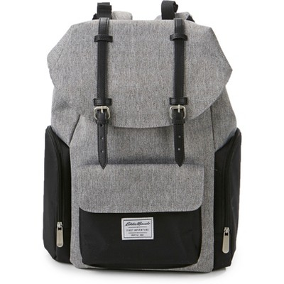 Eddie Bauer Legend Places & Spaces Back Pack Diaper Bag - Gray/Black