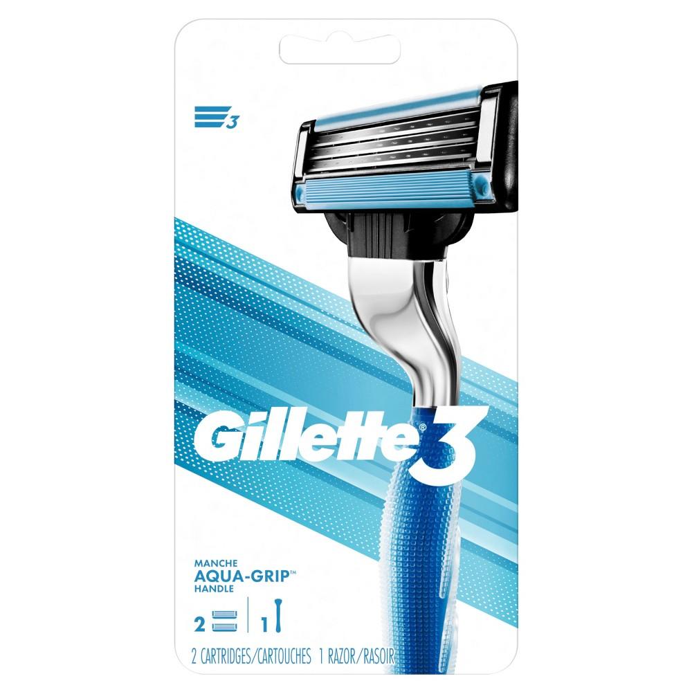 Gillette 3 Blade Men's Razor - 1 Handle + 2 Refills
