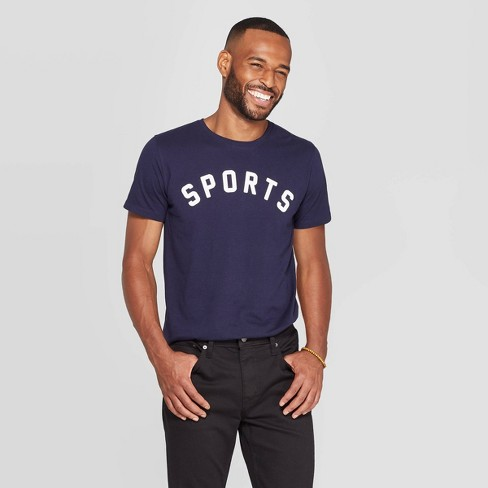 Men's Standard Fit Short Sleeve Crew Neck Graphic T-Shirt - Goodfellow & Co™ Navy - image 1 of 3