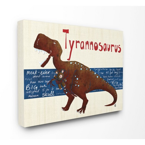 Tyrannosaurus Dinosaur Stretched Canvas Wall Art - Stupell ...