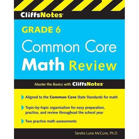 Cliffsnotes Grade 6 Common Core Math Review - by Sandra Luna McCune  (Paperback)